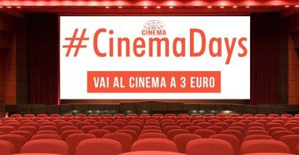 cinema-days-324x169 CinemaDays - Il cinema a soli 3 Euro Cinema Intrattenimento