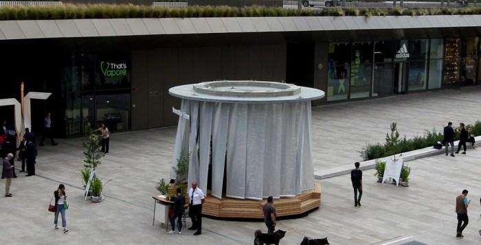 fontana d'aria a CItyLIfe