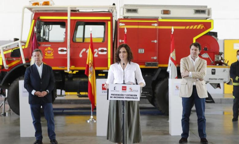 madrid,-castilla-la-mancha-y-castilla-y-leon-firman-un-convenio-para-extinguir-incendios-forestales-en-zonas-limitrofes