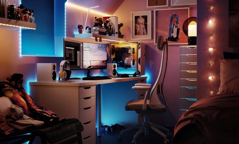 ikea-lanza-uppspel,-una-coleccion-de-muebles-gaming-con-sillas,-mesas-para-trabajar-de-pie-e-incluso-cojines-relajantes