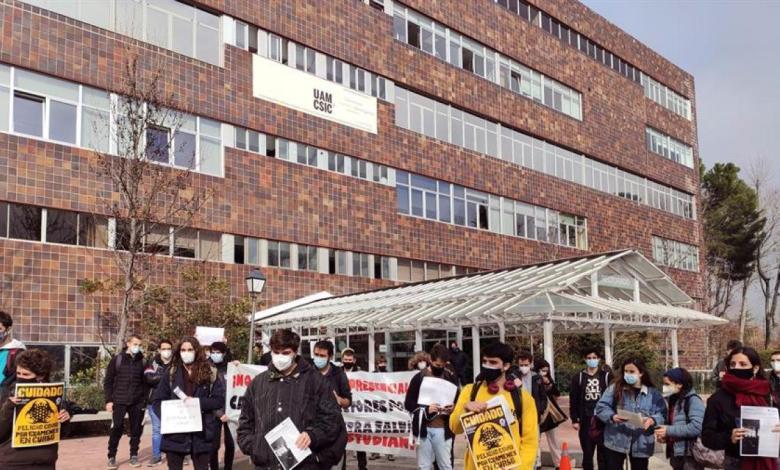"""los-universitarios-protestan-en-madrid-por-las-""""aglomeraciones""""-en-los-examenes-presenciales"""