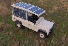 el-land-rover-defender-mas-silencioso-para-safaris:-electrico-y-con-paneles-fotovoltaicos