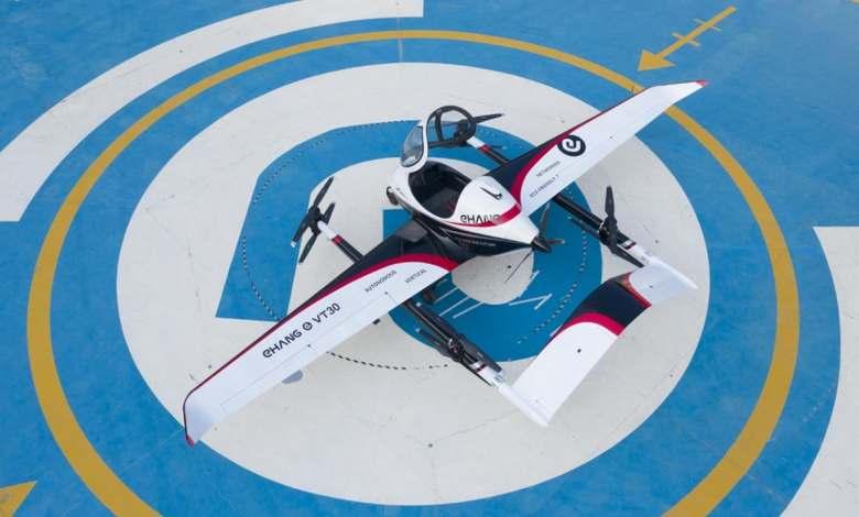 lo-ultimo-de-ehang:-un-taxi-aereo-con-hasta-300-kilometros-de-autonomia