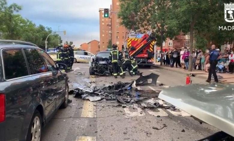 siete-heridos-en-un-accidente-con-cuatro-vehiculos-implicados-en-puente-de-vallecas