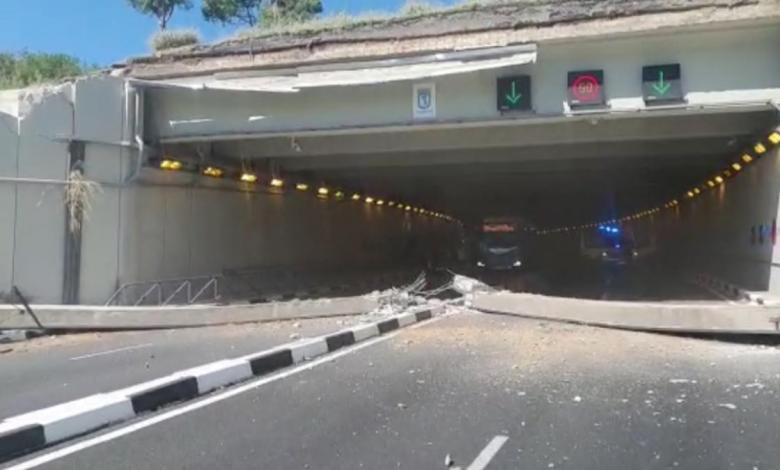 parte-del-tunel-de-la-avenida-del-planetario-se-viene-abajo-justo-cuando-acababa-de-pasar-un-coche
