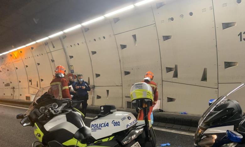 muere-un-motorista-al-perder-el-control-de-su-moto-en-el-tunel-de-la-m-30
