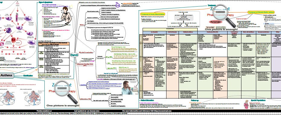 asthma concept map