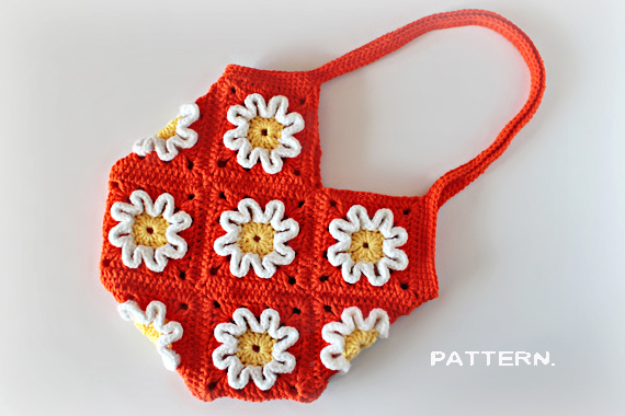 Crochet 3D Flower Purse
