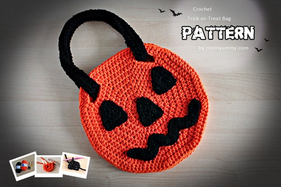 Crochet Halloween Trick-or-Treat Bag