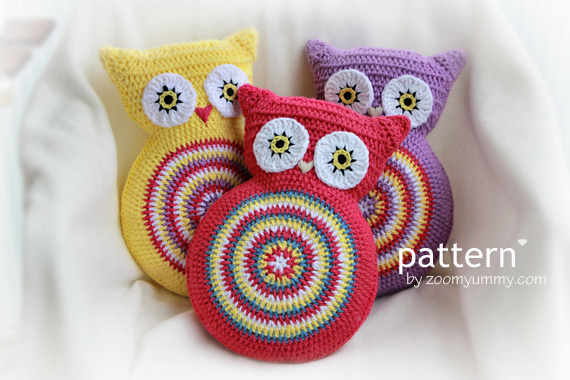 Owl Crochet Pdf Patterns Zoom Yummy Crochet Food Photography