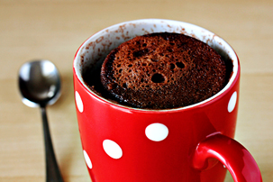 5-minute chocolate microwave mug cake recipe with step by step pictures and list of ingredients, pictures, ingredients, images