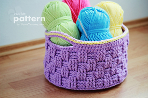 big crochet baskets pattern