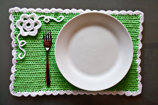 Crochet Spring Placemat Crafts Zoom Yummy Crochet Food