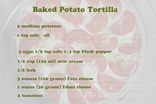 baked potato tortilla recipe with step-by-step images