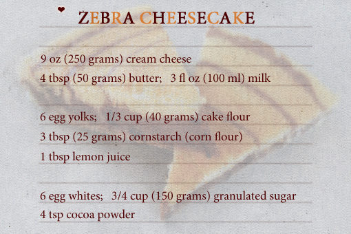 zebra cheesecake recipe with step-by-step images
