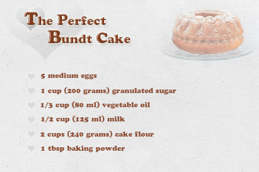 the perfect bundt cake recipe with step by step pictures