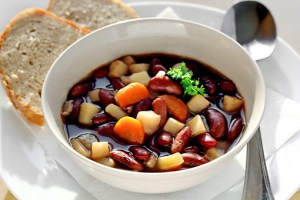 bean soup with step by step pictures and list of ingredients, bean soup