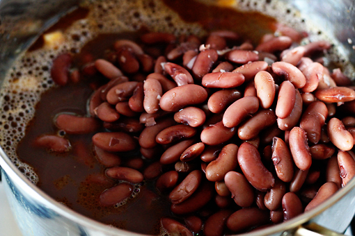 bean soup recipe with step by step pictures, add the beans