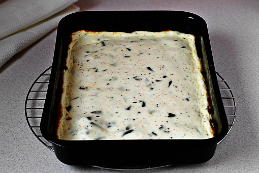chocolate chunk cheesecake bars recipe with step by step pictures, bake