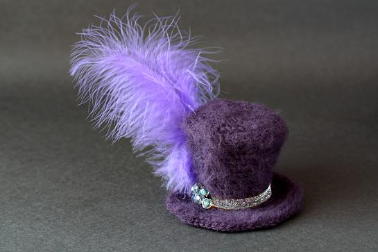 crochet mini top hat pattern picture tutorial