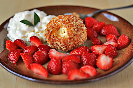 fried ice cream recipe with step by step pictures