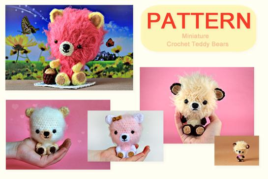crochet mini teddy bears pattern by zoomyummy.com