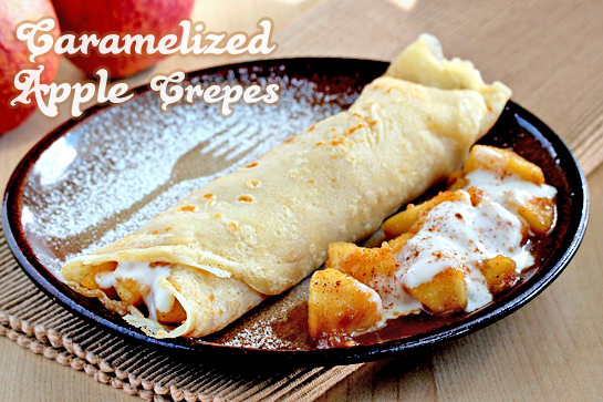caramelized apple crepes step by step recipe with pictures