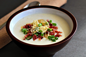 loaded potato soup recipe with step by step pictures, how to make loaded potato soup, homemade potato soup, pictures, ingredients, images