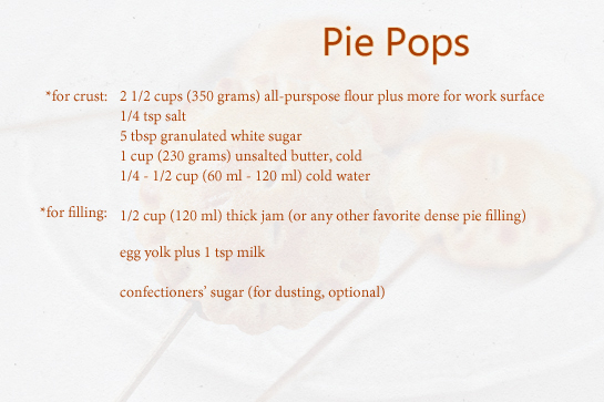 pie pops recipe with step by step pictures ingredients