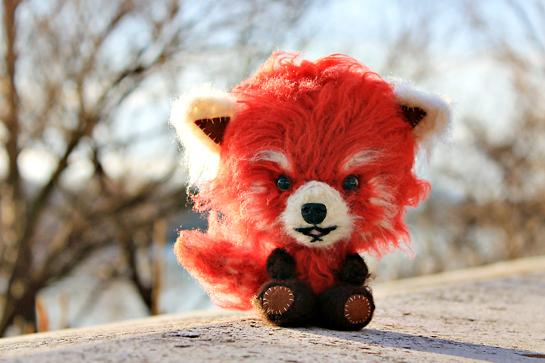 crochet red panda