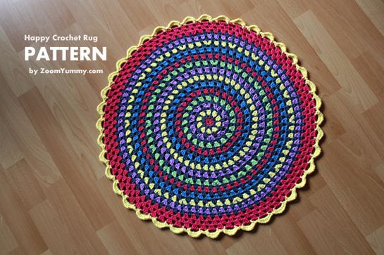 New Pattern ~ Happy Crochet Rug « Crochet « Zoom Yummy – Crochet ...