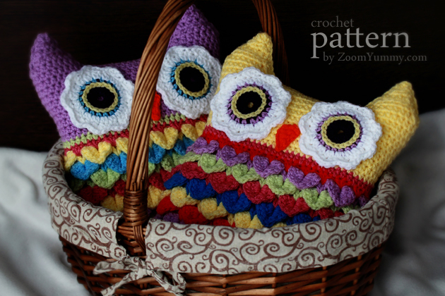 crochet owl cushion pattern