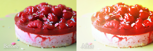 cake - rad lab action - before and after