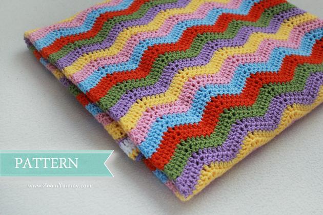 New Pattern Simple Crochet Ripple Baby Blanket Crochet Zoom