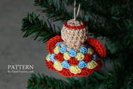 Crochet Christmas Granny Angel Ornaments