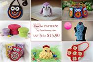 Pick Any 5 Crochet Patterns Bundle