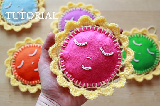 free crochet pattern - happy crochet sun