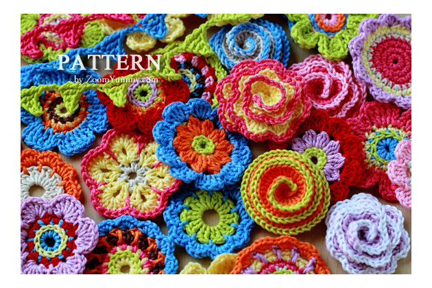 crochet flowers patterns