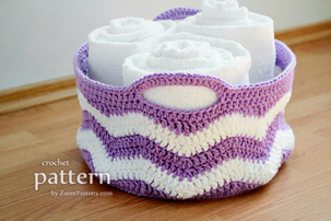 Crochet Ripple Basket