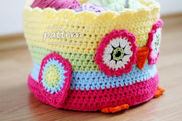 owl basket crochet pattern