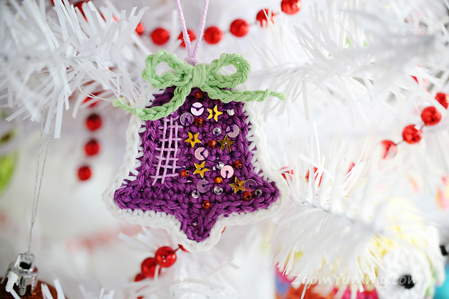 crochet Christmas tree ornaments bell