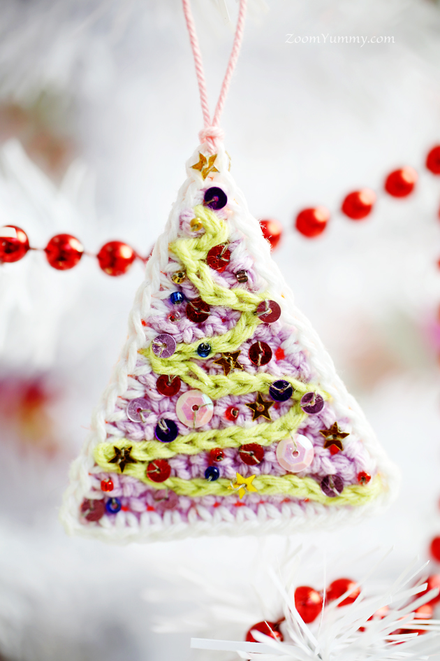 crochet Christmas tree ornaments - tree