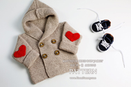knitted baby jacket - 190