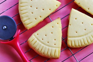 Pizza Slice Sugar Cookies