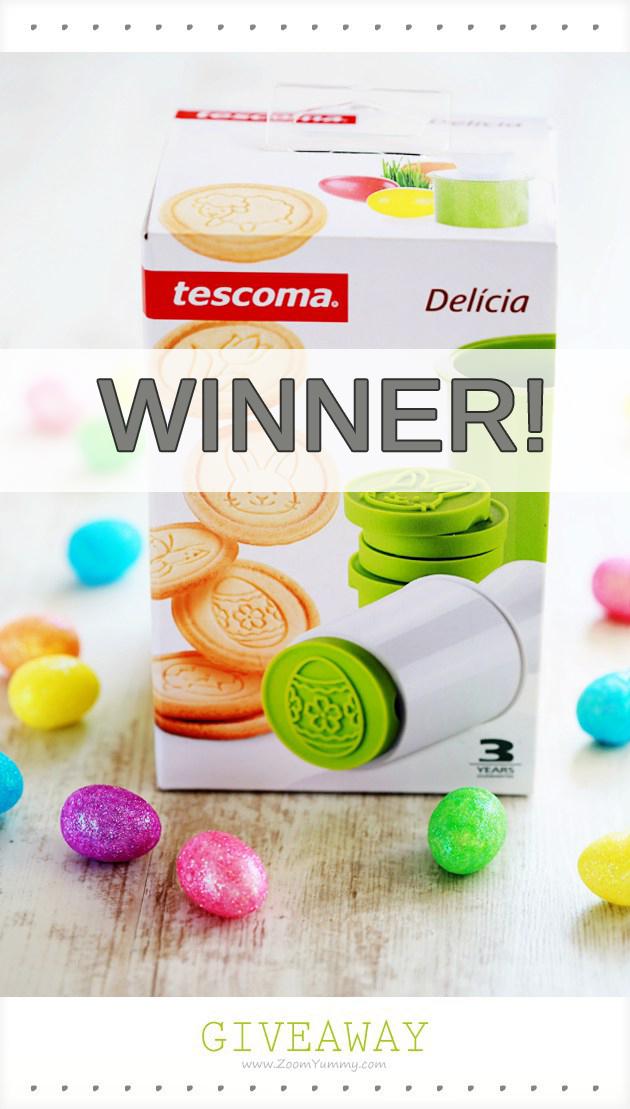 Easter cookie stamp giveaway winner
