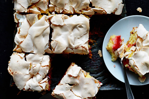 Strawberry Meringue Squares