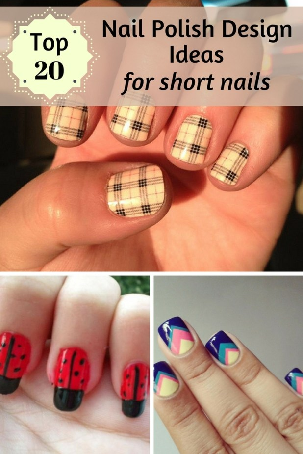 so what if you have short nails the better you can create different nail designs without going into beauty salons and if you ever thought that you can - Nail Polish Design Ideas