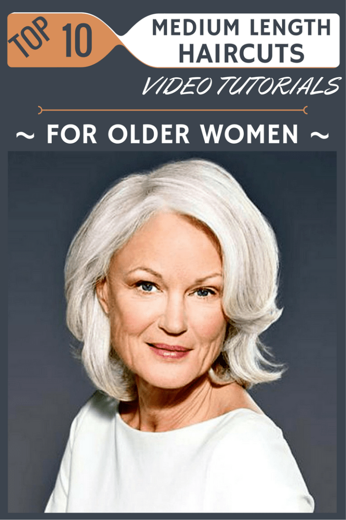 Top 10 Medium Length Haircuts Video Tutorials For Older Women
