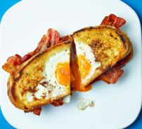 Egg-In-The-Hole Bacon Sandwich