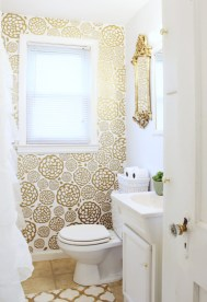 Gold Glam Bathroom